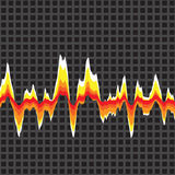 Graphic Equalizer Vector. An audio waveform over a grid background. It also could be a heartrate monitor Stock Image