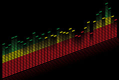 Graphic equalizer - Vector image. A graphic equalizer in the colors red green and yellow - vector image Royalty Free Stock Photos