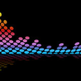 Graphic Equalizer Waveform. Abstract audio wave form illustration isolated over a black background Stock Image