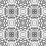 Graphic ethnic ornament design. Vector seamless texture for wall Royalty Free Stock Photos