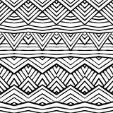 Graphic ethnic ornament stripes design. Vector seamless texture Royalty Free Stock Images