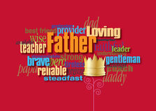 Graphic Father word montage with crown Royalty Free Stock Image