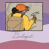 Graphic About Female Geologist Royalty Free Stock Photo