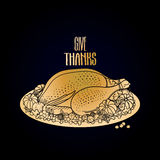 Graphic festive turkey Royalty Free Stock Image