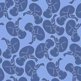Graphic fetus pattern Royalty Free Stock Photos