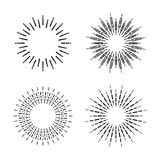 Graphic fireworks, vector. Graphic fireworks on white background Royalty Free Stock Photo