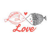 Graphic fish lovers Stock Photography