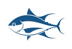Graphic fish tattoo style, vector Stock Photography