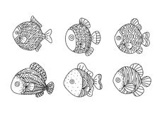 Graphic fish, vector Royalty Free Stock Images