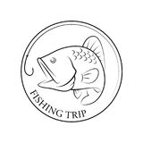 Graphic fishing trip, vector Royalty Free Stock Photos