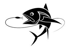 Graphic fishing tuna, vector Royalty Free Stock Images