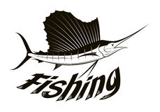 Graphic fishing, vector Royalty Free Stock Image