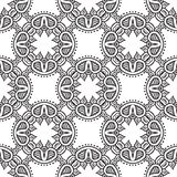 Graphic floral detailed seamless vector pattern. Hand drawn floral pattern with thick black line, website backdrop, holiday wrapping or luxury wedding invitation Royalty Free Stock Photos