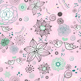 Graphic floral pattern Royalty Free Stock Photography
