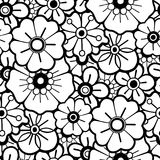 Graphic floral pattern. Graphic floral seamless pattern. Vector vintage design. Traditional style. Coloring book page for adults and kids Royalty Free Stock Photography