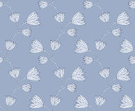 Graphic flower. Seamless floral pattern with stylized graphic flower Royalty Free Stock Image