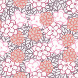 Graphic flower and leaf. Seamless floral pattern with simple graphic flower and leaf Stock Image