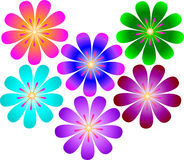 Graphic Flowers Stock Photography