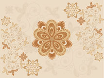Graphic Flowers Background Stock Image