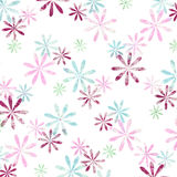Graphic flowers on white backg Royalty Free Stock Photos