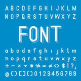 Graphic Font with shadows Stock Image