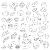 Graphic food, vectorgraphic food, vector Royalty Free Stock Photo