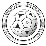 Graphic football or soccer logo. Vector isolated illustration of a Football association or a sports event logo, sign, symbol. Stock Photo
