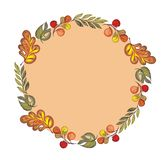 Autumn foliage vector background. Graphic frame with autumn leaves royalty free illustration