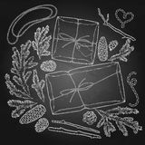 Graphic gift package Royalty Free Stock Photography