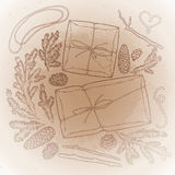 Graphic gift package Royalty Free Stock Image