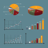 Graphic graph collection Stock Photography