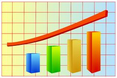Graphic of growth Stock Photography