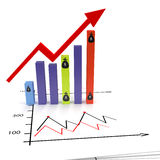 Graphic growth Stock Photos