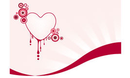 Graphic heart. Pink graphic heart with spilled blood Stock Photos