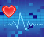 Graphic of heart pulse Stock Images