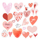 Graphic heart set Stock Photography
