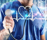 Graphic heartbeat Stock Images
