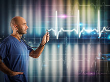 Graphic heartbeat Stock Photography