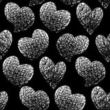 Graphic hearts pattern Stock Photos