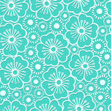 Graphic hibiscus floral seamless pattern Royalty Free Stock Photo