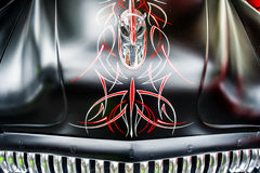 Graphic on a hood of a  Vintage Buick car Stock Image