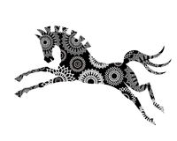 Graphic Horse. Beautiful stylized graphic horse (remove clip mask in vector for full graphic elements Stock Images