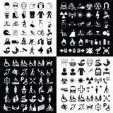 Graphic icon collection Stock Photos