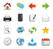 Graphic icons Stock Photography