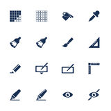 Graphic icons Royalty Free Stock Photos