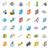 Graphic icons set, isometric style. Graphic icons set. Isometric style of 36 graphic vector icons for web isolated on white background Stock Photos