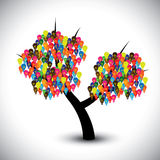 Graphic of idea tree with colorful bulbs as soluti Royalty Free Stock Photography