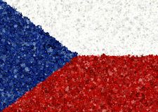 Illustraion of Czech Flag with a blossom pattern Royalty Free Stock Photos