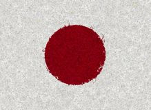 Illustraion of Japanese Flag with a floral pattern Stock Images