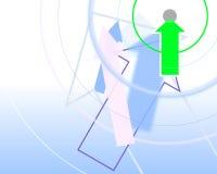 Graphic illustration of arrows Stock Photo